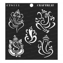 "CrafTreat 6""x6"" Stencil - Ganeshas"