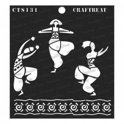 "CrafTreat 6""x6"" Stencil - Joy of Dancing"