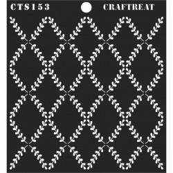 """CrafTreat 6""""x6"""" Stencil - Leaf Pattern Background"""