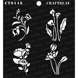 "CrafTreat 6""x6"" Stencil - Mini Floral Bunches"