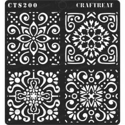 """CrafTreat 6""""x6"""" Stencil - Moroccan Tiles"""