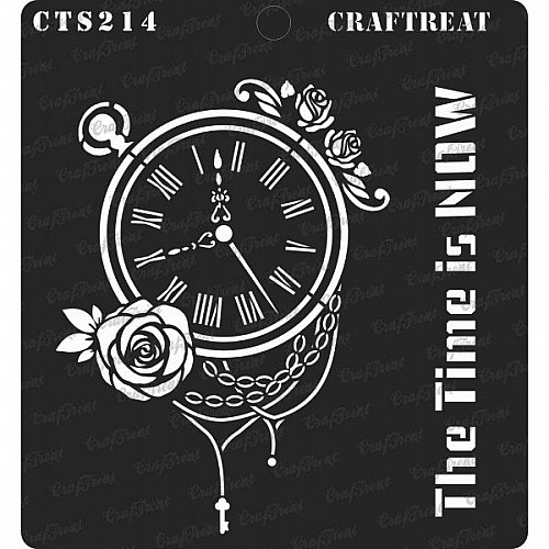 """CrafTreat 6""""x6"""" Stencil - The Time is Now"""