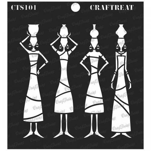 CrafTreat 6x6 Stencil - Tribal Potters