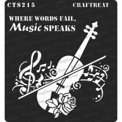 """CrafTreat 6""""x6"""" Stencil - Music Speaks"""