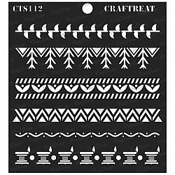 "CrafTreat 6""x6"" Stencil - Warli Borders"