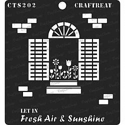 "CrafTreat 6""x6"" Stencil - Fresh Air and Sunshine"