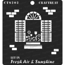 "CrafTreat 6""x6"" Stencil - Fresh Air and Sunshine"