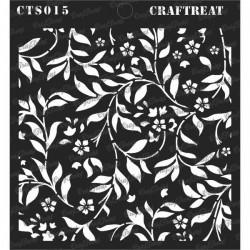 CrafTreat Flourish Background Stencil