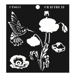 CrafTreat Layered Stencil - Poppy