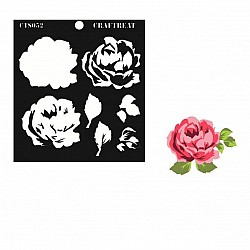CrafTreat Layered Stencil - Rose