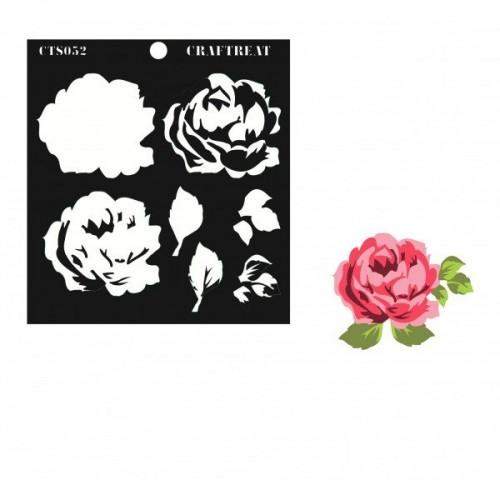 CrafTreat Layered Stencil - Rose