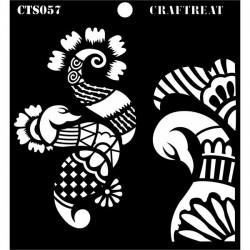 """CrafTreat 6""""x6"""" Stencil - Henna"""