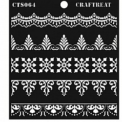"CrafTreat 6""x6"" Stencil - Ornate Borders"