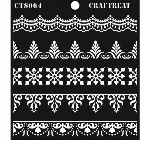 """CrafTreat 6""""x6"""" Stencil - Ornate Borders"""