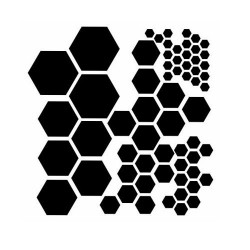 """The Crafters Workshop 6""""x6"""" Stencil - Hexagons"""