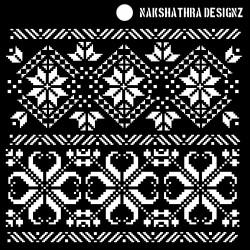 "Nakshathra Designs 6""x6"" Stencil - Knit Magic"