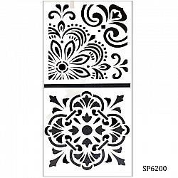 6by6 inch stencil (Set of 2) - SP6200