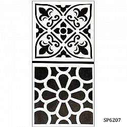 6by6 inch stencil (Set of 2) - SP6207