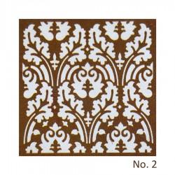 Stencil - Floral Design 1 (8 by 8 inch)
