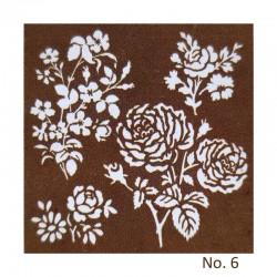 Stencil - Floral Design 3 (8 by 8 inch)