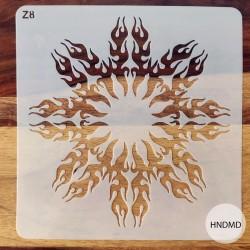 8by8 inch stencil - Design 30