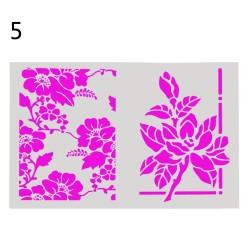 Stencil - Flowers (A4 size)