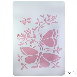 Cake Stencil - Butterflies (A4) (HA4-30)