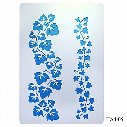 Cake Stencil - Leaves (A4)