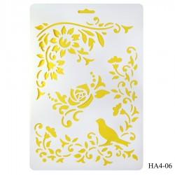 Cake Stencil - Floral (A4)