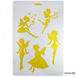 Cake Stencil - Angels (A4)