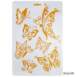 Cake Stencil - Various Buetterflies (A4)