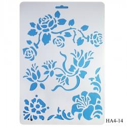 Cake Stencil - Flourishes (A4)