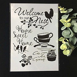 Stencil - Welcome to our Nest (A4 size)