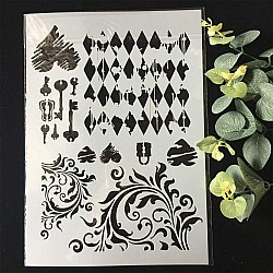 Stencil - Vintage Flourish and Keys (A4 size)
