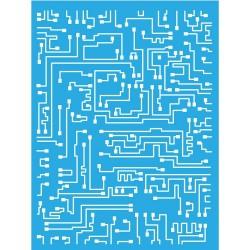 Americana DecoArt Stencil 6by8 Inches - Short Circuit