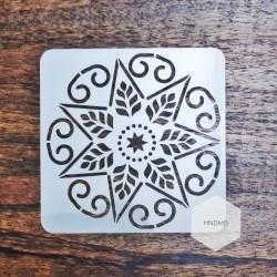 Mandala 5by5 inch stencils (Design 2)