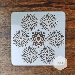 Mandala 5by5 inch stencils (Design 33)