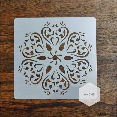 Mandala 5by5 inch stencils (Design 40)