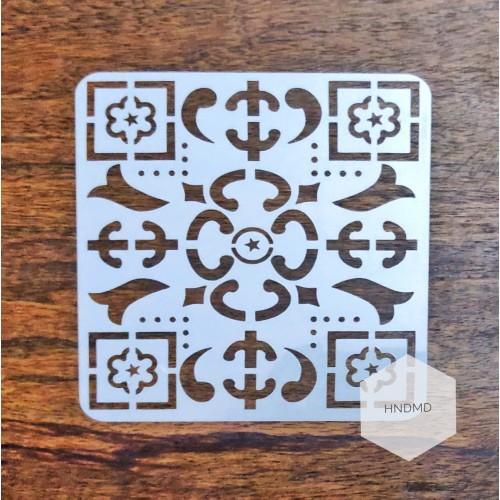 Mandala 5by5 inch stencils (Design 49)