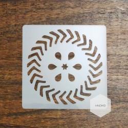 Mandala 5by5 inch stencils (Design 5)