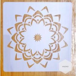 Mandala 5by5 inch stencils (Design 58)