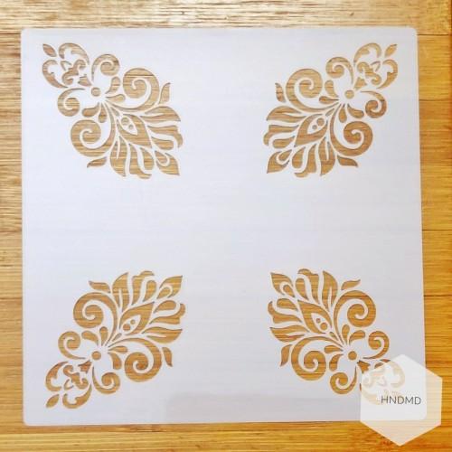 Mandala 5by5 inch stencils (Design 67)