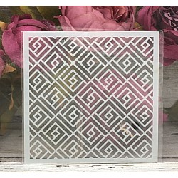 5by5 inch stencils - Geometric Pattern