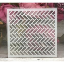 5by5 inch stencils - Diagonal Bricks