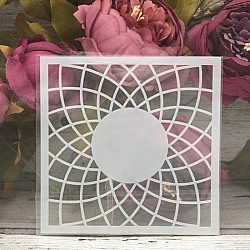 5by5 inch stencils - Concentric Circles