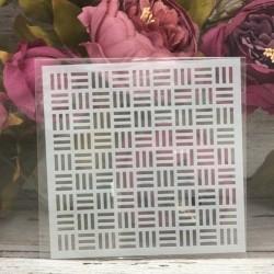 5by5 inch stencils - Striped Background
