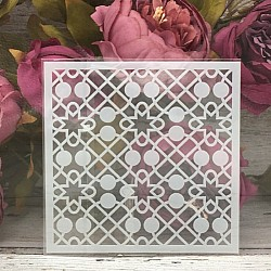 5by5 inch stencils - Trellis Background
