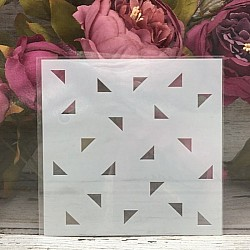 5by5 inch stencils - Triangles Background
