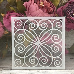 5by5 inch stencils - Ornate Background