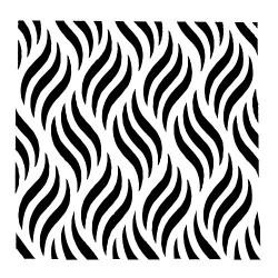 Stencil - Waves (5 by 5 inch)